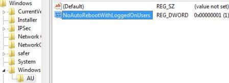 Как отключить автоматическую перезагрузку после установки обновлений в
