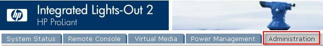 веб-интерфейс  iLO