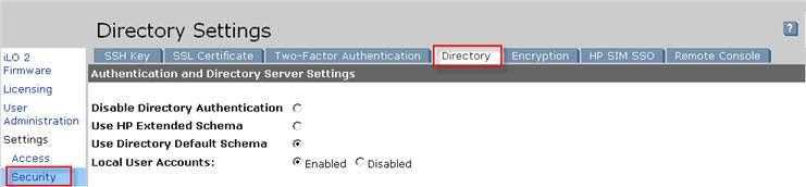Directory в HP