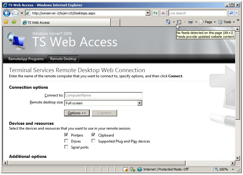 Клиент TS Web Access