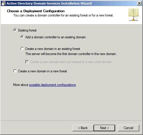 Как добавить контроллер домена в существующий домен