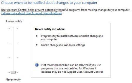 User Account Control - не мешай мне!!