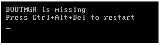 Windows Server 2008. BOOTMGR Is Missing