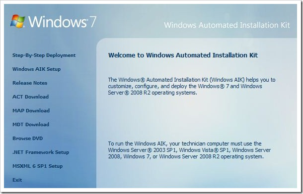 description: windows automated installation kit