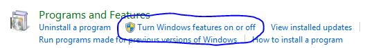 Включить функции Windows 7