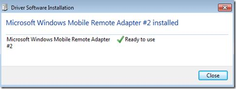 Окончание установки драйвера устройства в Windows 7