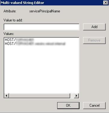 SPN атрибут servicePrincipalName