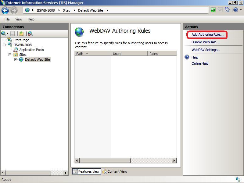 WebDAV  Authoring Rule