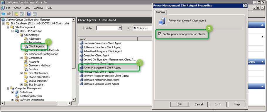sccm2007 Enable power management on clients