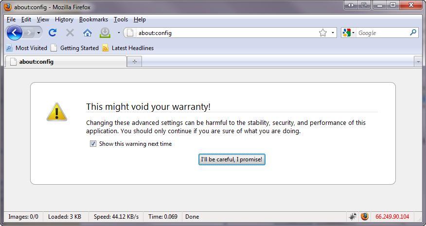 настройка NTLM аутентификации в Firefox