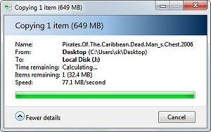 Скорость передачи по USB после