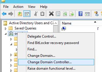 aduc Change Domain Controller