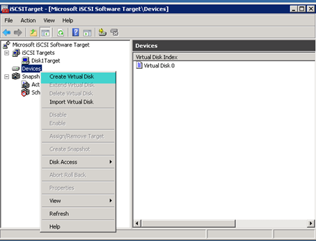 how to create iscsi target in windows 2008
