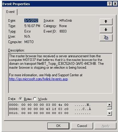 Ошибка «Обозреватель Компьютеров» MrxSmb 8003