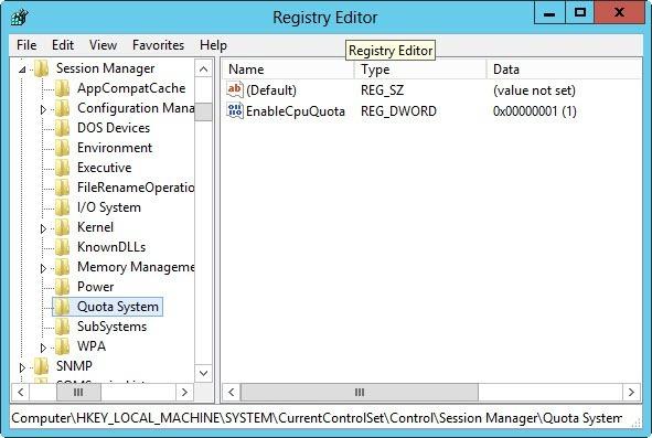 windows server 2012 управление ресурсами CPU в RDS