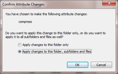 Сжать каталог в Windows