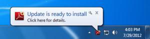 Автоматическое обновление Adobe Reader X