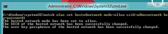Создаем точку доступа wi-fi access point в windows 8