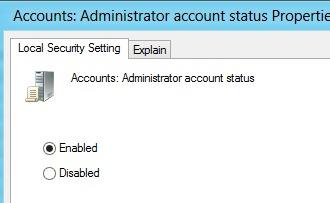 включить учетную запись администратора в Windows 8