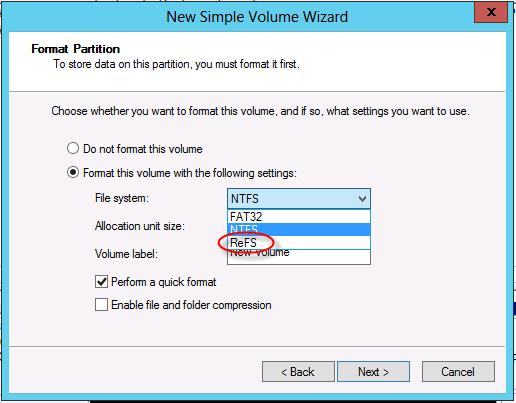 Файловая система ReFS в Windows 8