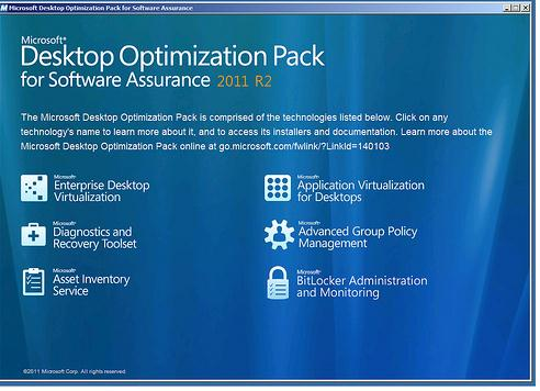 Microsoft Desktop Optimization Pack  - MDOP