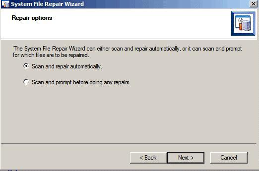 Проверка целостности системных файлов SFC Scan
