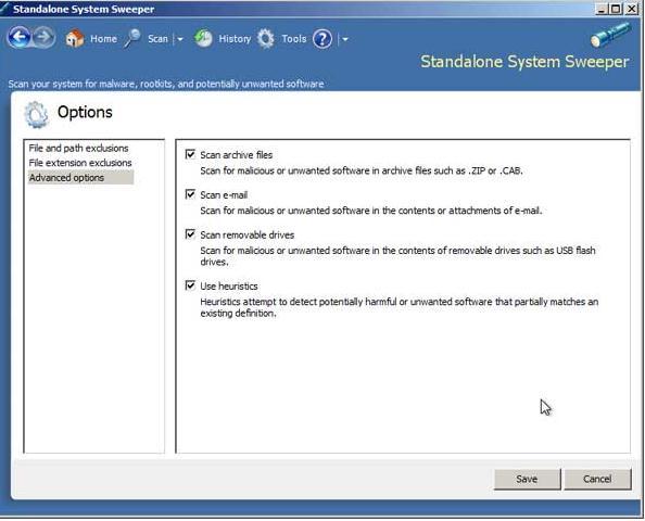 офлайн антивирус Standalone System Sweeper