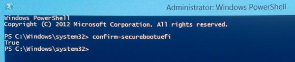 проверка режима защищенной загрузки в windows 8 с помощью powershell