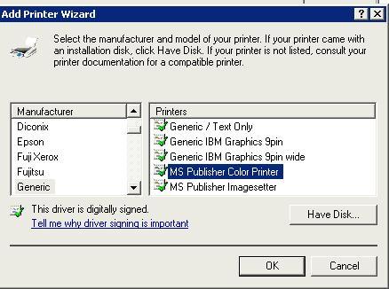 Простой PostScript драйвер в Windows