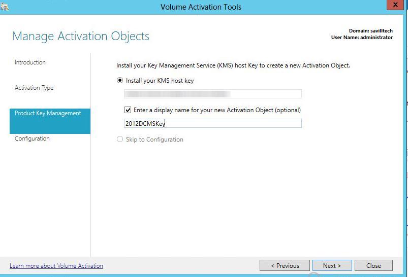 Активация ключа KMS Host key - по Microsoft Volume Licensing