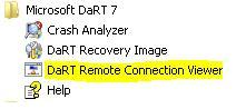 DART remote connection viewer