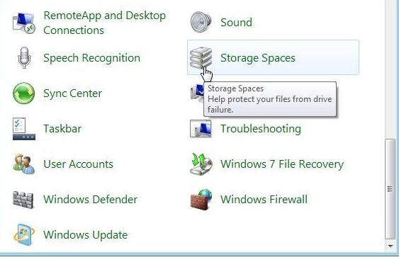 storage spaces в windows 8