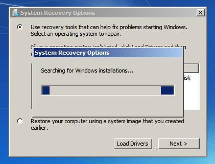 Поиск установленных windows 7