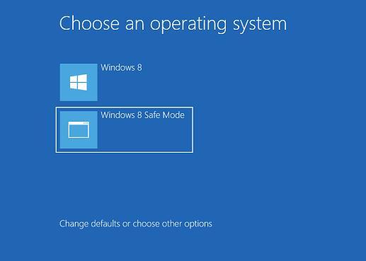 safe mode в загрузочном меню windows 8