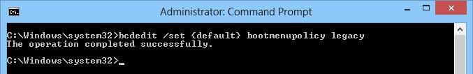 windows 8 bcdedit legacy загрузчик