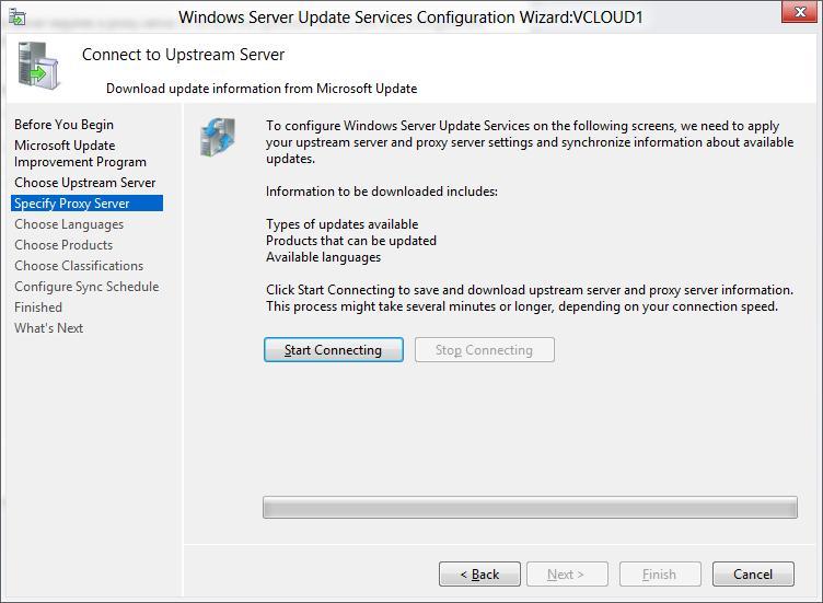 Запуск синхронизации wsus в windows server 2012