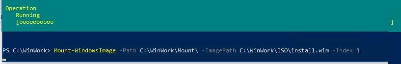 Mount-WindowsImage подключение wim файла