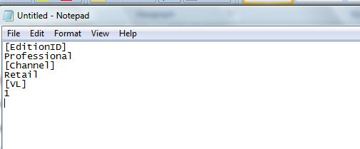 Файл ei.cfg - установка windows 8 без ключа