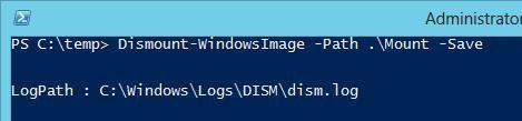 Сохранить изменения в образе windows server 2012