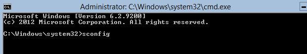 sconfig в windows server 2012