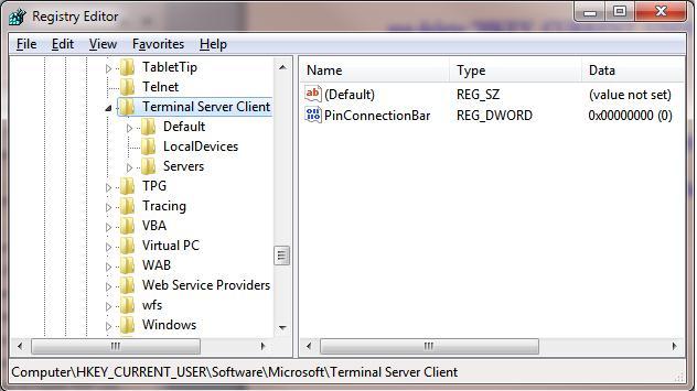 Логи о всех rdp соединениях хранятся в реестре