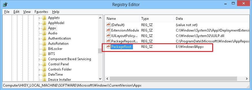 Изменить каталог установки metro apps в windows 8 - на другой диск