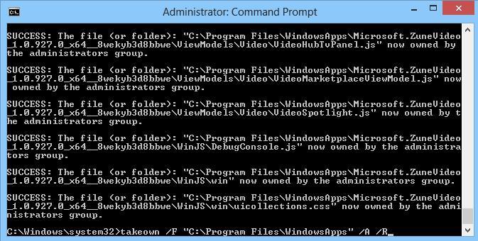 Как стать владельцем файлов в windows 8 - команды takeown
