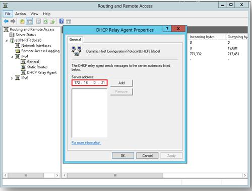 Настройка пересылки dhcp запросов на Windows 2012