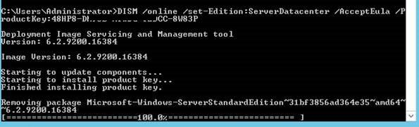 Upgrade версии Windows Server 2012