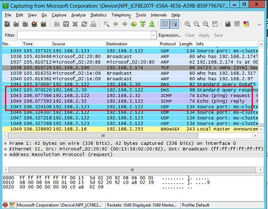 windows захват и анализ сетевых пакетов