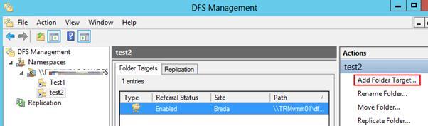 Добавление нового каталога в пространство dfs