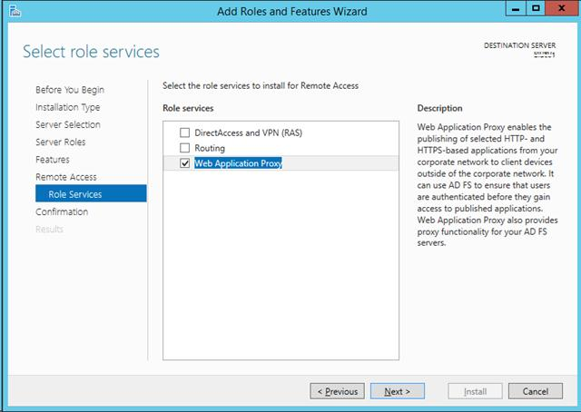 Установка web application proxy в windows server 2012 r2
