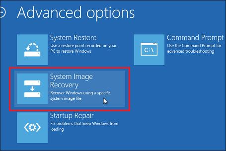 system image recovery windows 8