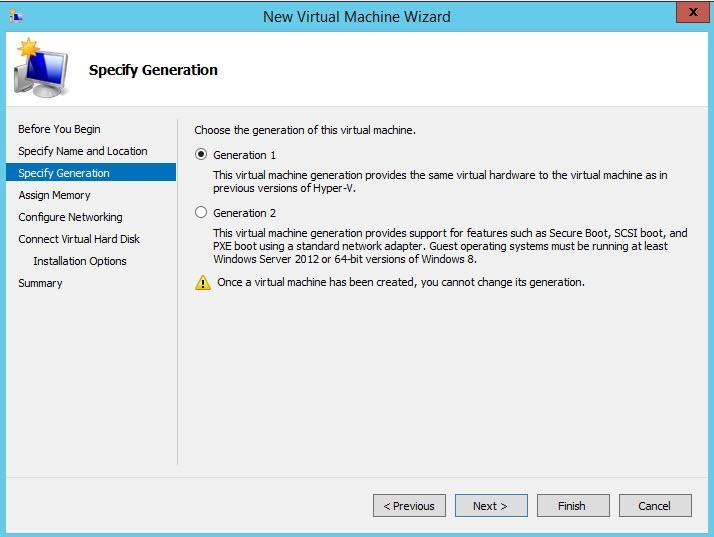 Второе поколение (Generation 2) виртуальных машин Hyper-V на Windows Server 2012 r2